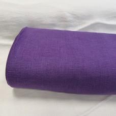 Vienkrāsains lina audums spilgti violetā krāsā