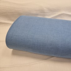 Vienkrāsains lina audums gaiši zilā krāsā