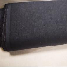 Vienkrāsains biezs lina audums (tumši zils)