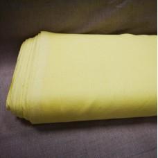 Vienkrāsains lina audums zaļgan dzeltenā krāsā