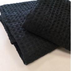 Lina dvielis melnā krāsā 60*100
