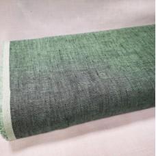 Melanža lina audums (gaišī zaļš ar melno)
