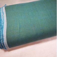 Melanža lina audums (zaļš ar zilu)