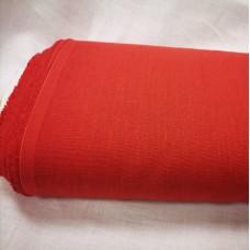Vienkrāsains biezs lina audums - koraļļu sarkans