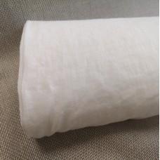 100 % lina koši balts audums mazgāts 195g/m2