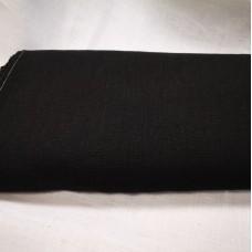 Mīkstināts vienkrāsains lina audums melns