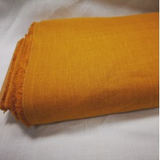 Mīkstināts vienkrāsains lina audums sinepju krāsā