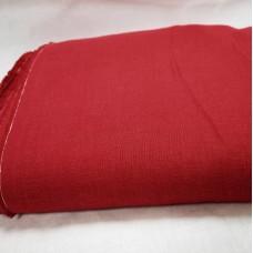 Mīkstināts vienkrāsains lina audums sarkanā krāsā