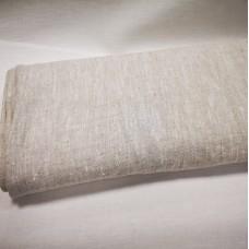 100 % lina pelēks audums mazgāts 285g/m2