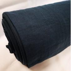 Platais lina audums mazgātais tumši zilā krāsā